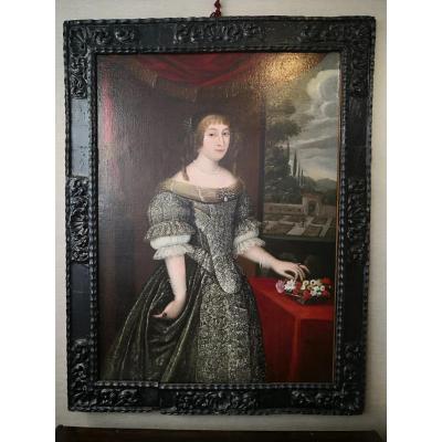 Portrait Of Anne-marie Martinozzi, Princess Of Conti, Seventeenth Century