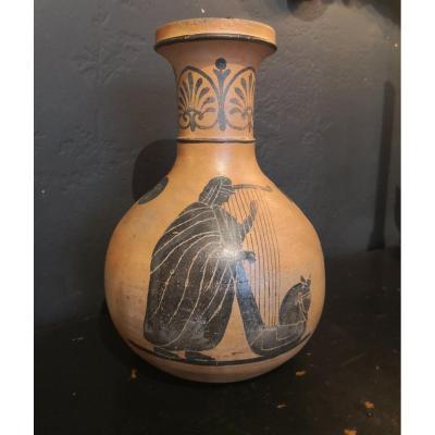 Vase Grec En Terre Cuite . XXe Siècle