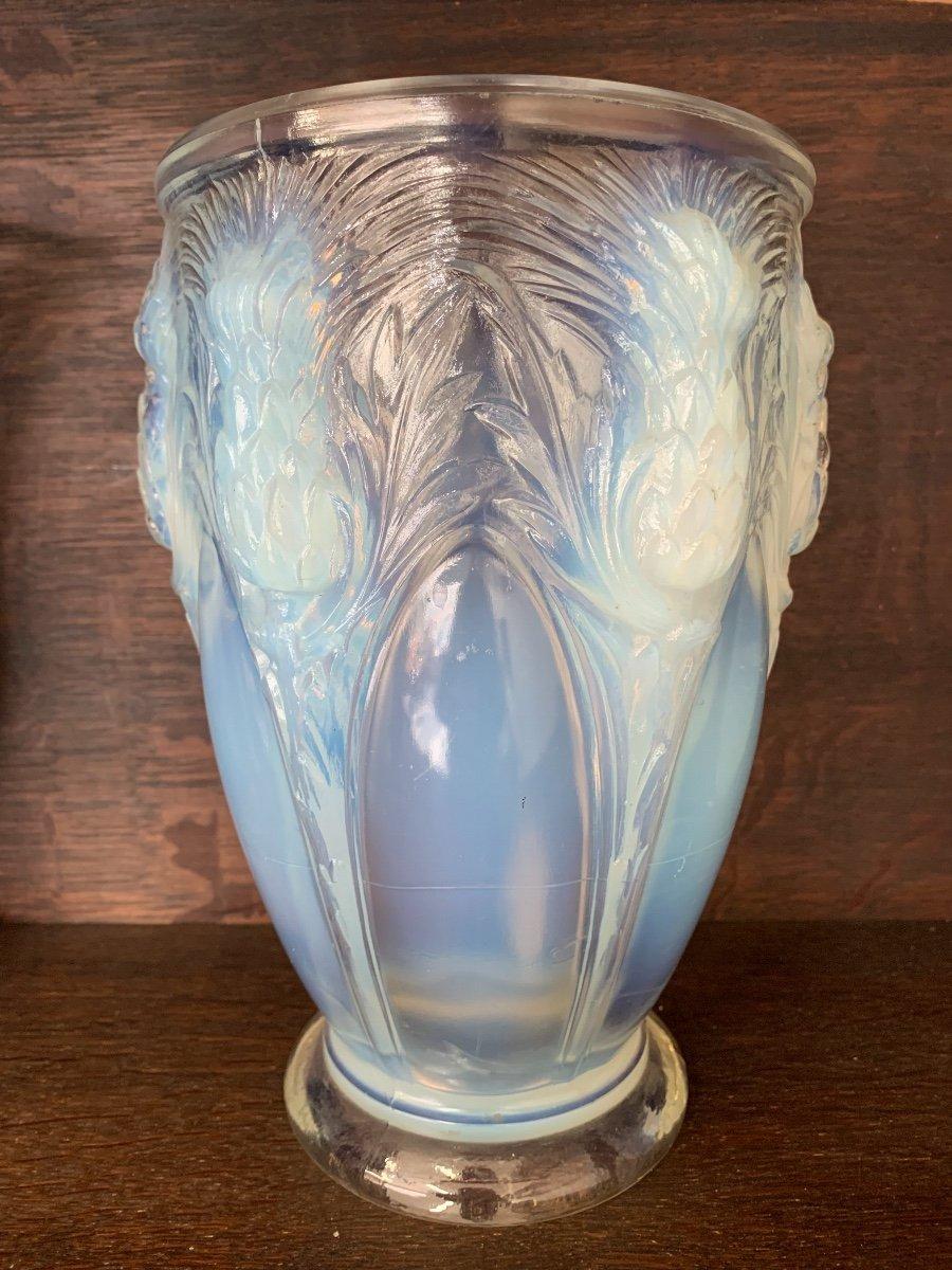 Verlys - Vase  opalescent à Décor De Chardons -photo-2