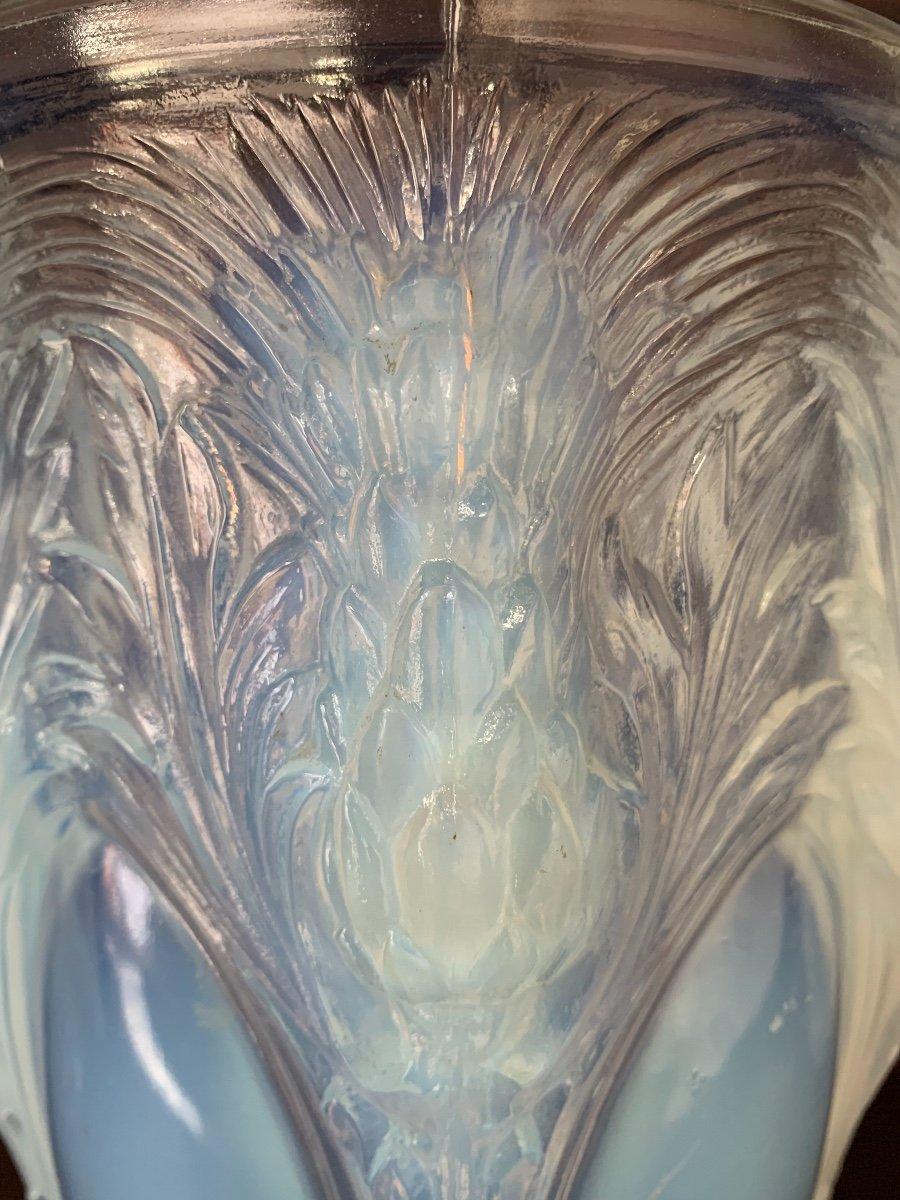 Verlys - Vase  opalescent à Décor De Chardons -photo-3