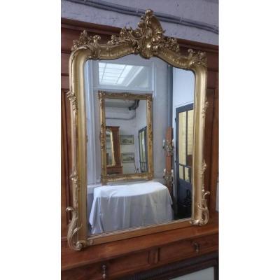 Miroir Style Louis XV. Dorure à La Feuille