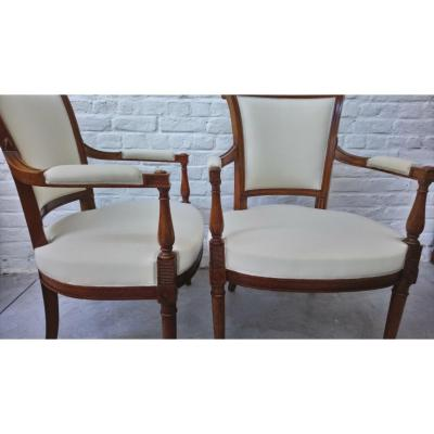 Pair Of Armchairs Cabriolets Directory