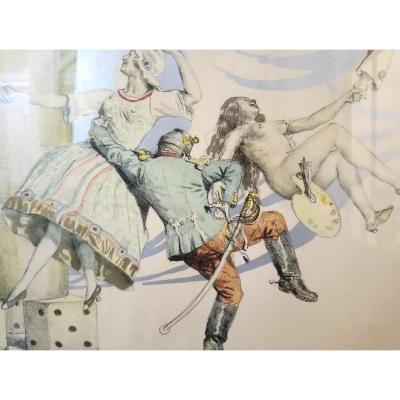 Lucien Jonas  4 œuvres Sur Papier
