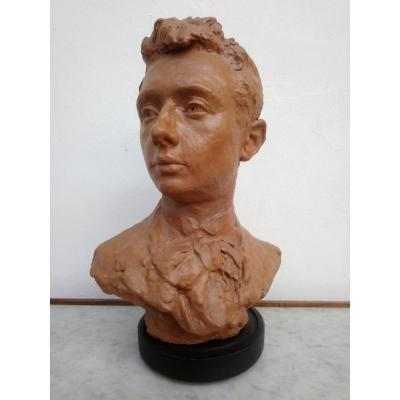 Bust Of Young Man Terracotta