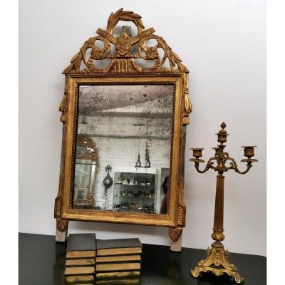 Miroir bois doré époque  Louis XVI