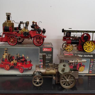 Steam Tractors. Firefighters' Vehicles. Wilesco