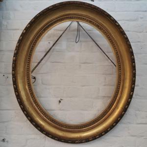 Large Golden Oval Frame