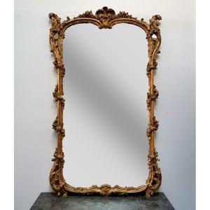 Miroir Bois Doré époque Louis XV
