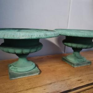 Pair Of Medici Vases In Cast Iron