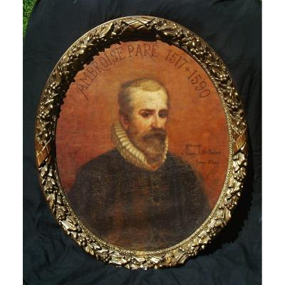 G St Lanne  Large Portrait  Of Ambroise Paré 93 X 68