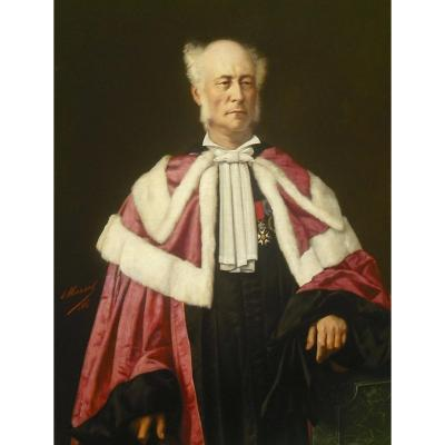 E  Antoine  Marsal  Grand Portrait  133 X 95  - 1845
