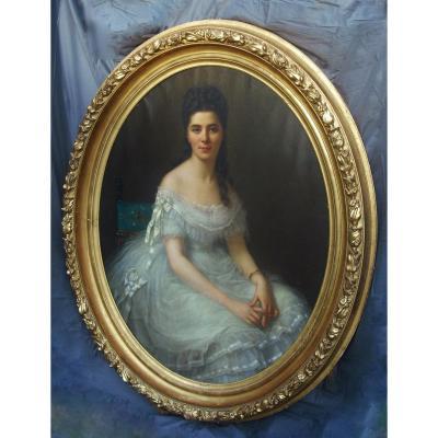 Ferdinand Birotheau -  Very Large Portrait 147 X 117 -  1875