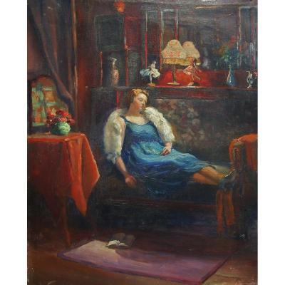 W Bicheroux   -Femme  Alanguie XIX – 54 X 45