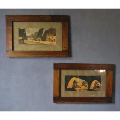 Van Neer 2 Grands Paysages  Encadrées 79,5 X 52,5