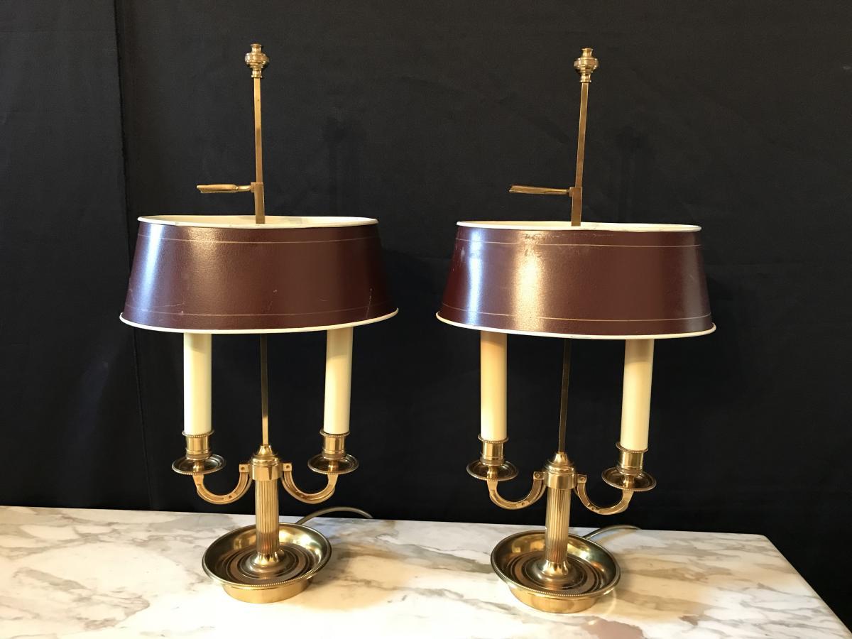 Paire De Lampes Bouillotte
