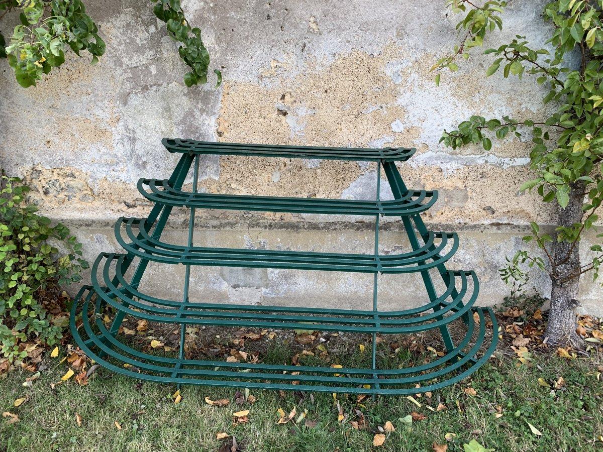 Porte-plantes De Jardin Ancien En Fer Forgé.