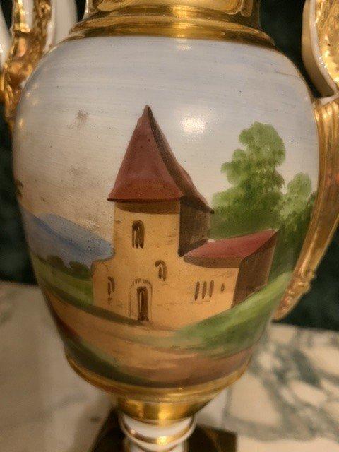 Paire De Vases D'époque Empire. -photo-1