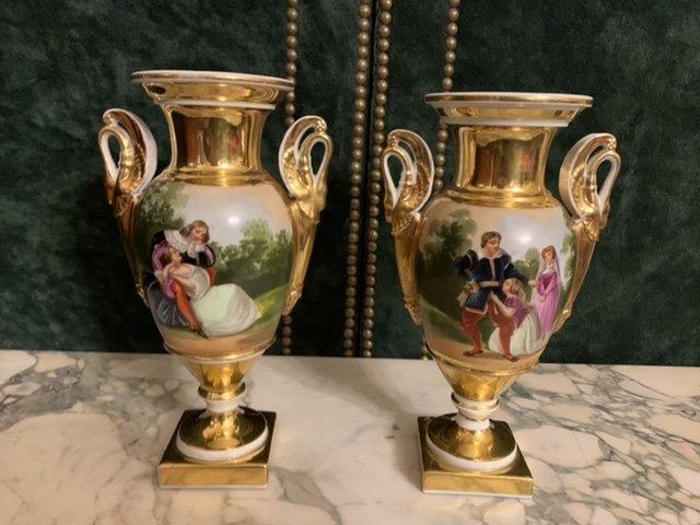 Paire De Vases D'époque Empire.