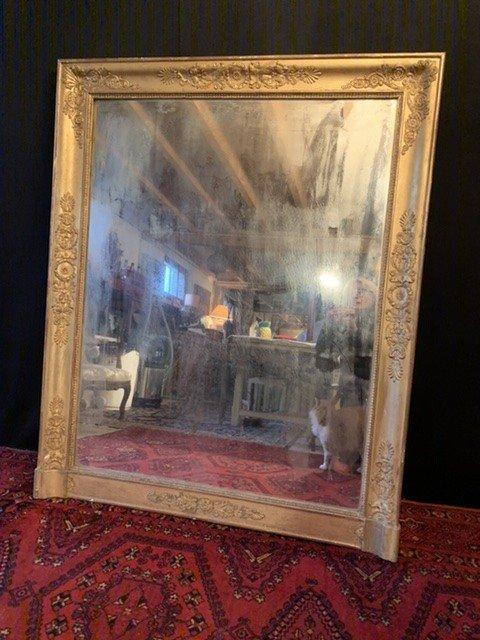 Grand Miroir /glace De Cheminée D'époque Empire.