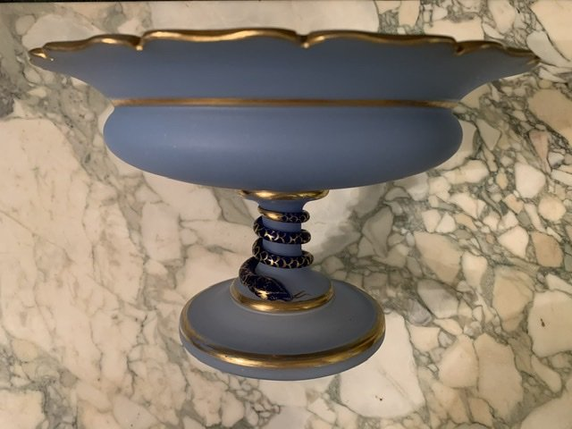 Coupe En Opaline De Cristal Saint Louis.