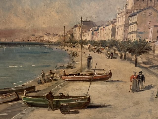 Nice « La baie des anges « Mascart Gustave ( 1834-1914 ) Dit Taverny. -photo-5