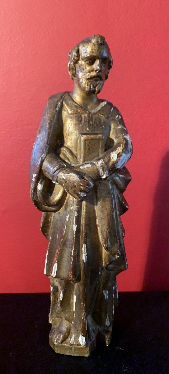 Statue De Saint Paul En Bois Doré XVIII Ème.
