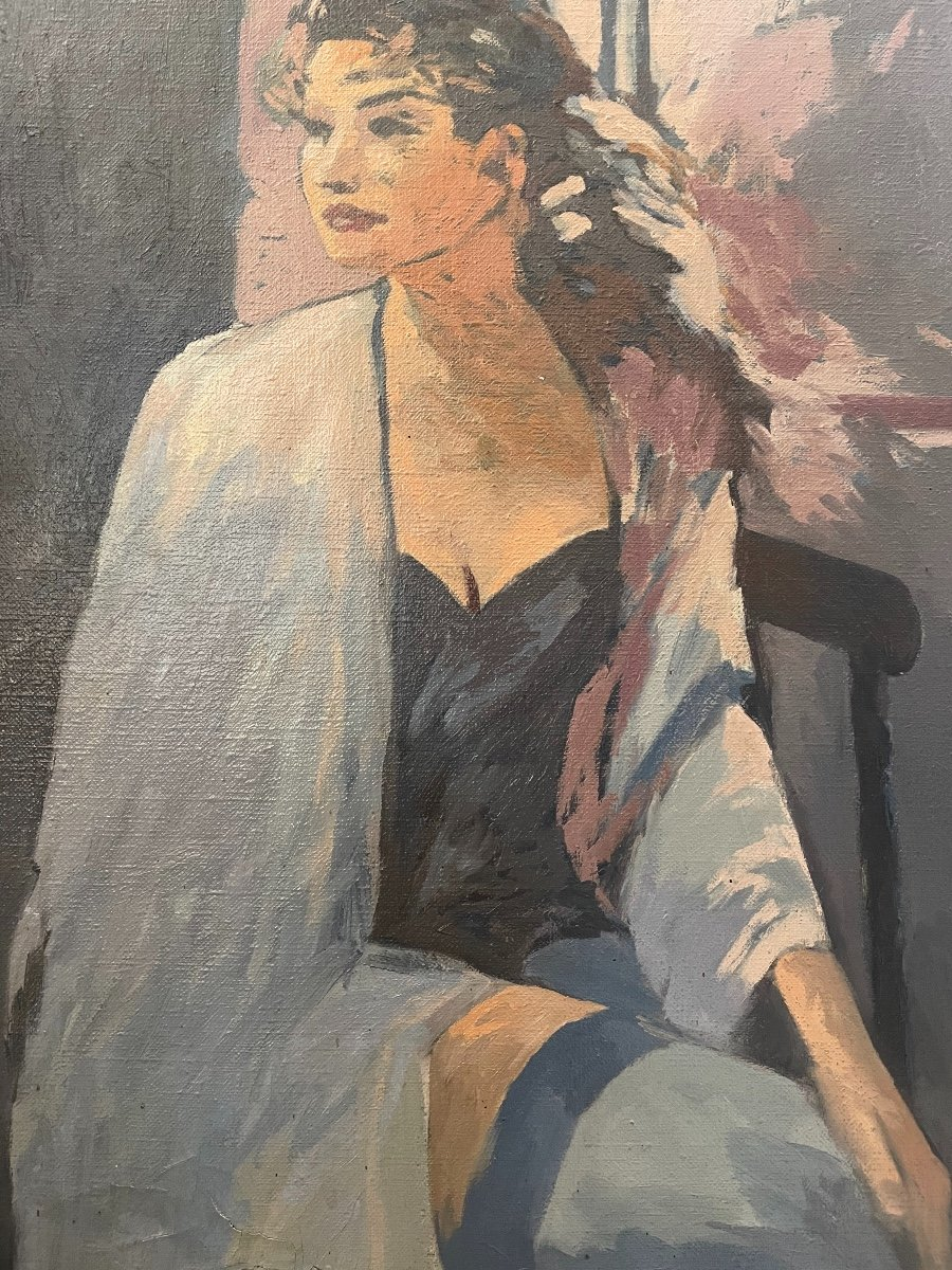 Portrait De Jeune Femme En Tenue Légère.vers 1950.