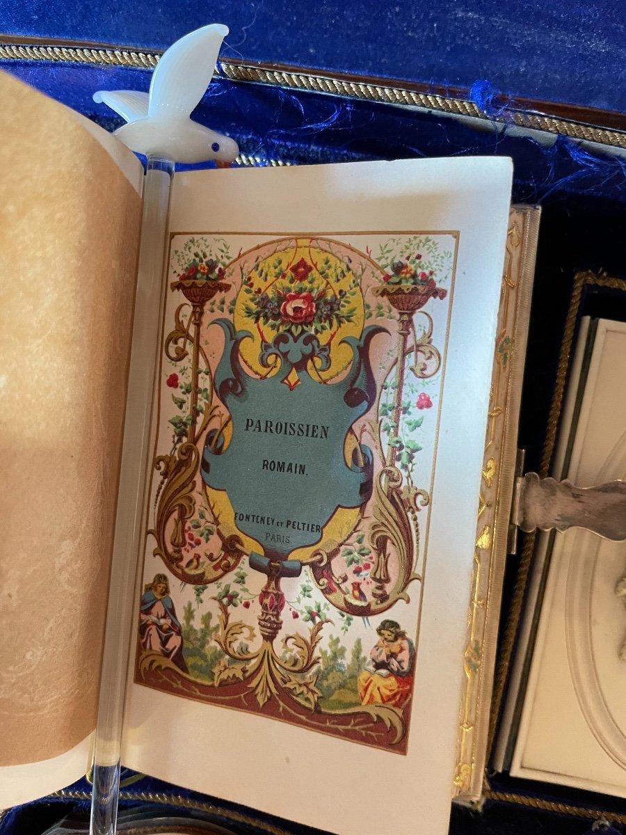Coffret De Dame En Marqueterie D'époque Napoléon III. -photo-5