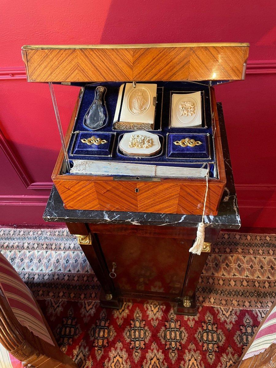 Coffret De Dame En Marqueterie D'époque Napoléon III. -photo-6