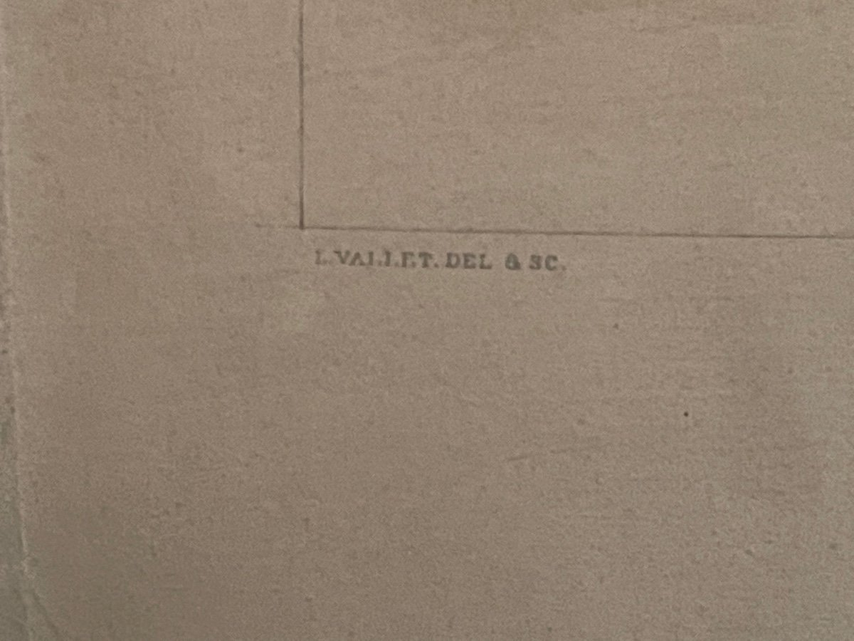 Ensemble De Quatre Gravures Par Louis Vallet -photo-4
