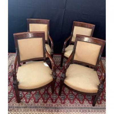 Suite Four Empire Armchairs.