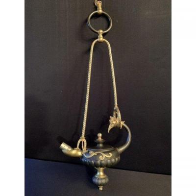 Lustre/suspension En Bronze Empire.