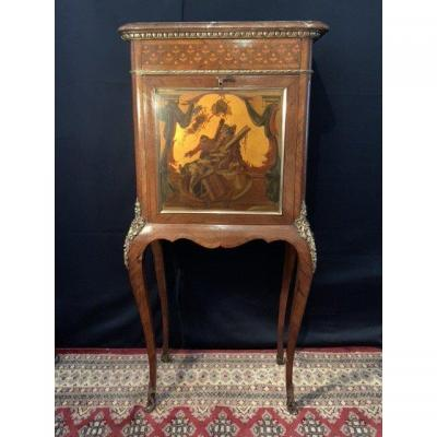 Secretary In Cabinet, Varnished Martin Aux Singes Musiciens.