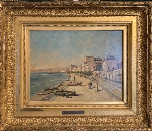 Nice « La baie des anges « Mascart Gustave ( 1834-1914 ) Dit Taverny. -photo-2