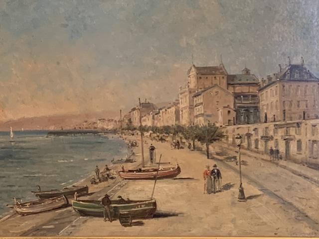 Nice « La baie des anges « Mascart Gustave ( 1834-1914 ) Dit Taverny. -photo-3