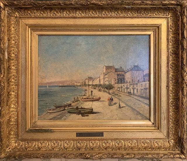 Nice « La baie des anges « Mascart Gustave ( 1834-1914 ) Dit Taverny. -photo-4