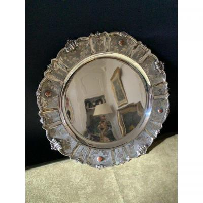 Dish With Agathes In Silver 800.