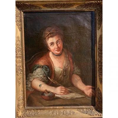 Portrait De Jeune Femme XVIII ème.