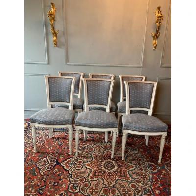 Suite De Six Chaises De Style Directoire.