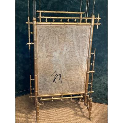 Napoleon III Golden Wood Fireplace Screen