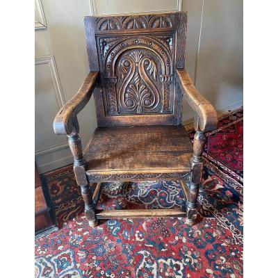 Fauteuil / Wainscot Chair D'époque XVII Ème.