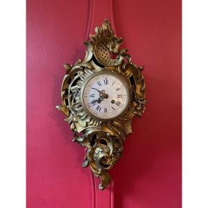 Cartel D'applique Louis XV En Bronze Doré. Ad.MOUGIN deux médailles.