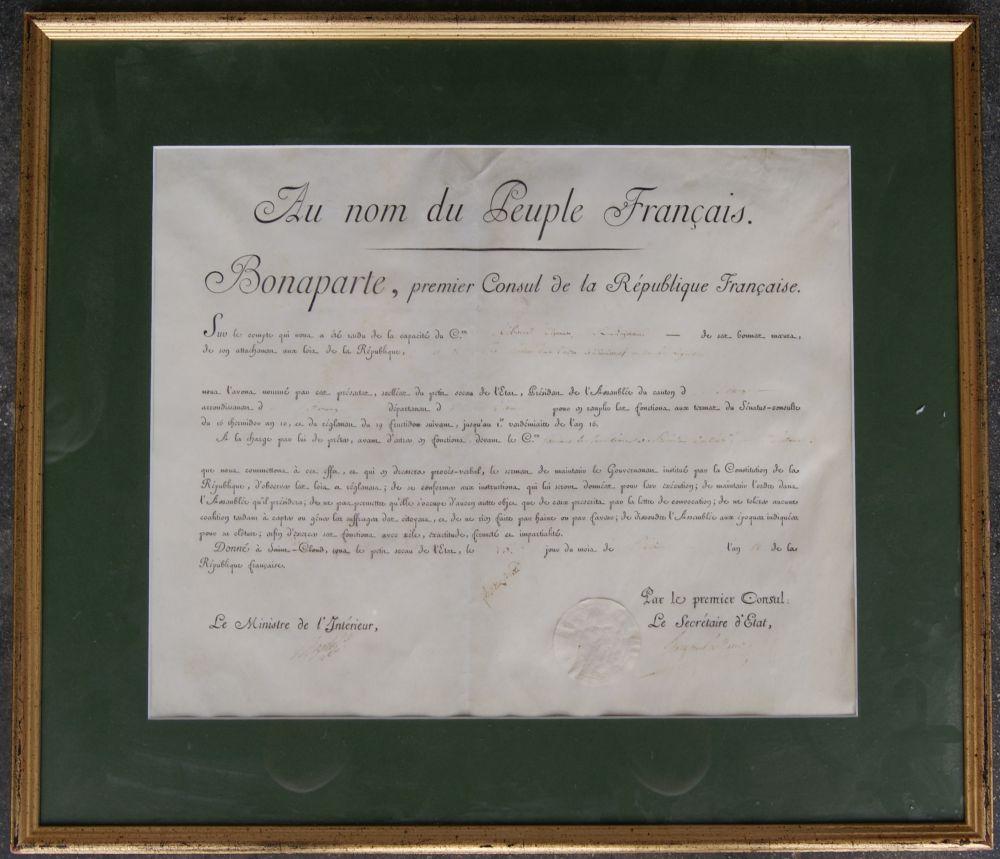 Brevet 1er Empire, Tampon Sec