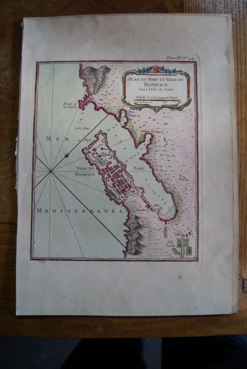 Plan Du Port Et Ville De Boniface. Bonifacio (corse)
