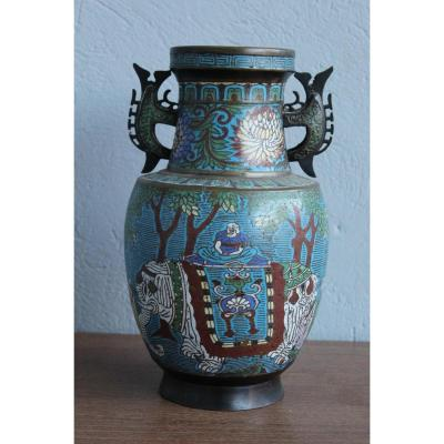 Vase Cloisonné  Chine 19eme