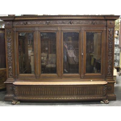 Bibliothèque En Noyer De Style Henri II