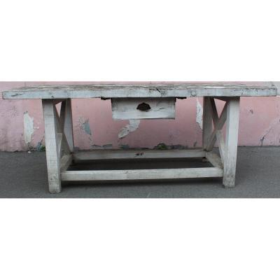 Painted Wood Presentation Table