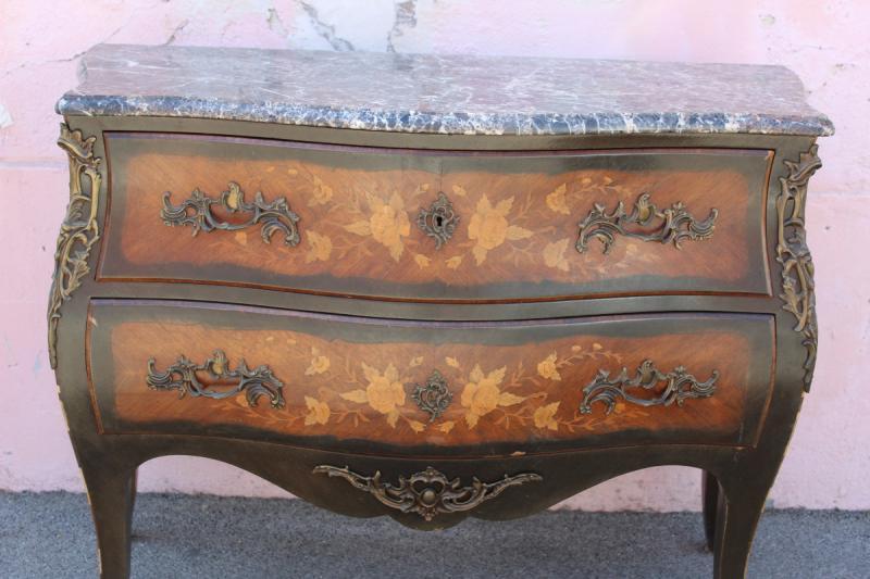 Commode Napoléon III de style Louis XV-photo-2