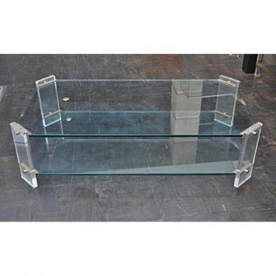 And Glass Coffee Table Circa 70 Plexi