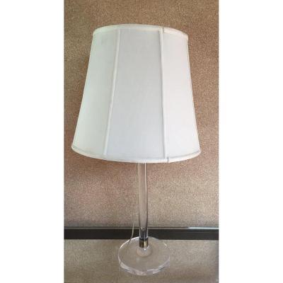 Plexi Lamp And Brass Circa 70